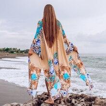 Bikini Cover Up Sun protection shirt Swimsuit Beach Dress Women 2021 Summer Ladies Cover-Ups Bathing Suit Beach Wear Tunic