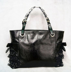 woman big capacity shopping bag  ladies black beach bags  beauty SHOULDER Leather purse  summer beach  lace handbag bolsa femini