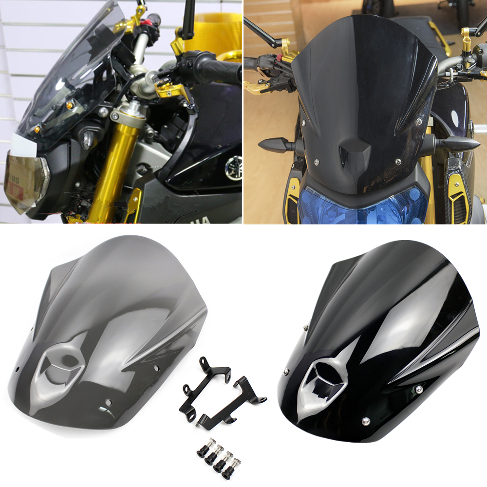 High Quality Motorcycle Windshield Windscreen Cover Mount For Yamaha MT09 FZ09 2013-2016