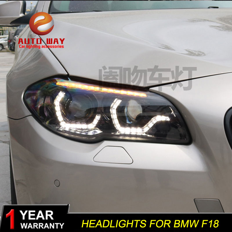 Car Styling Head Lamp Case for <font><b>BMW</b></font> F10 F18 <font><b>Headlights</b></font> 2011-2013 520i 525i 530i HID <font><b>LED</b></font> <font><b>Headlight</b></font> Hid Bi Xenon Auto Accessories image