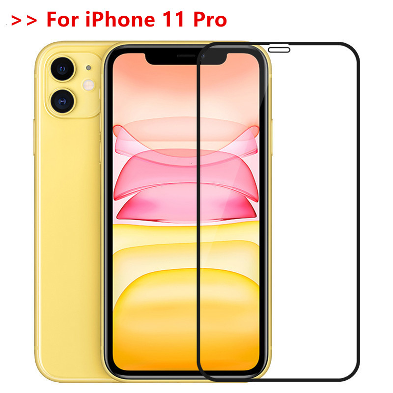 Tempered Glass On IPhone 11 Pro X XR XS Max Full Cover Screen Protector Film For IPhone 6 6s 7 8 Plus 5 5s SE Protective Glass