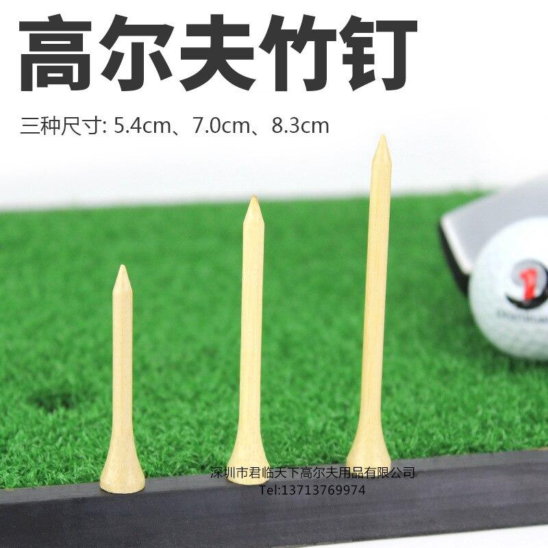 Golf Tee Bamboo Nail Ball Needle Bamboo Nail Minnan Bamboo Ball Studs Ball Support 2-Color 3 Size