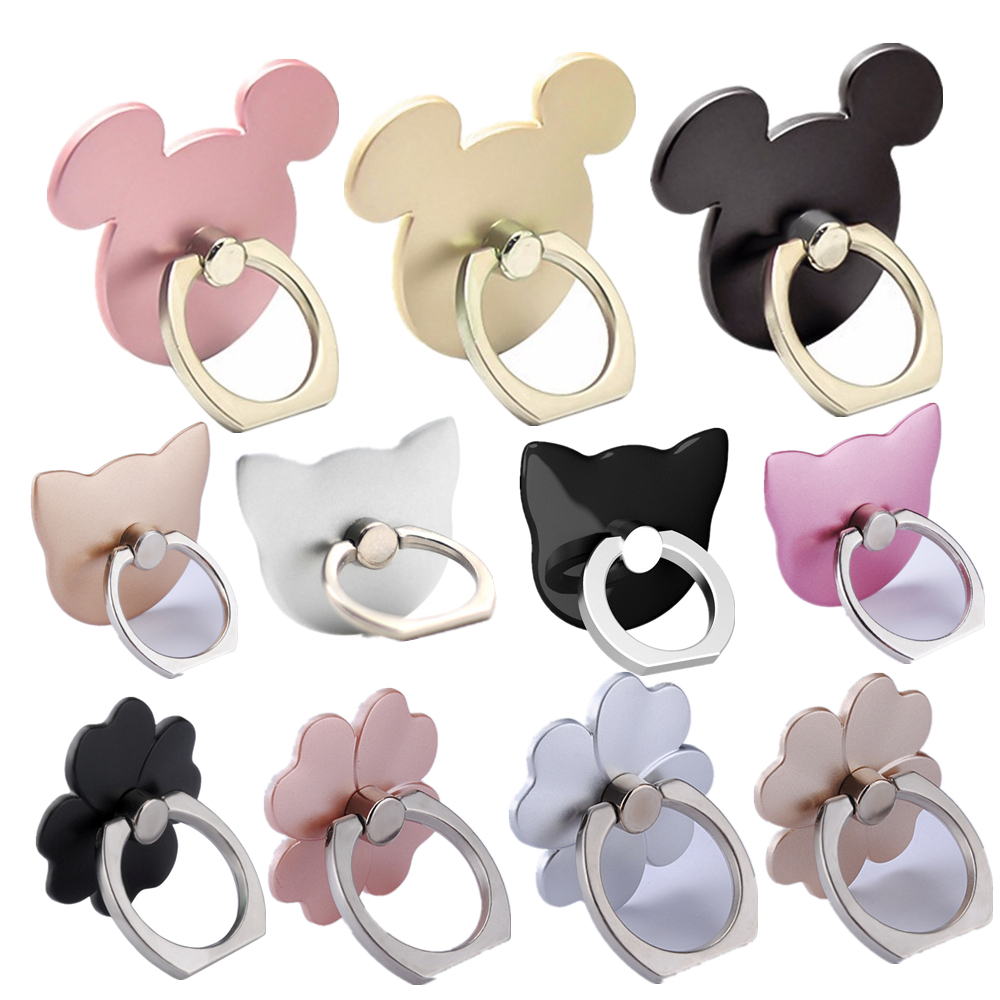 2020 360 Degree Mouse Shape Finger Ring Socket Mobile Phone Holder Stand For IPhone For Oneplus Socket For All Smfor Phone