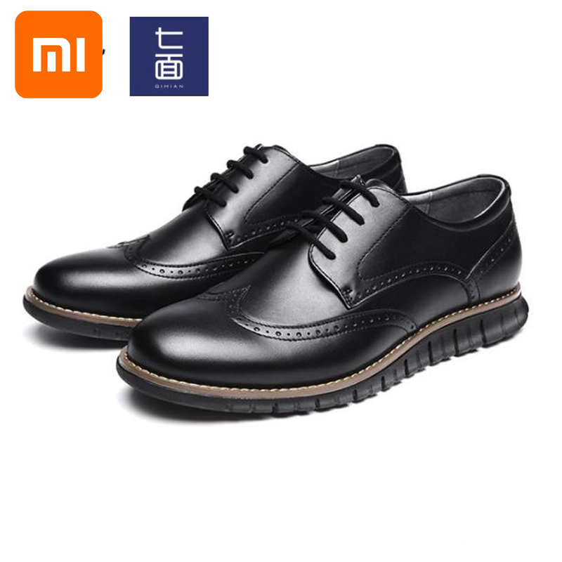 Xiaomi Mijia qimian chaussures pour hommes léger sport derby chaussures affaires décontracté broch chaussures sculpté robe technologie chaussures