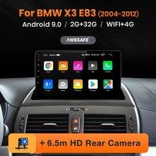 Автомагнитола AWESAFE PX9 для BMW X3 E83 2004-2012, мультимедийный видеоплеер с GPS-навигацией, 2 din, DVD, Android 10