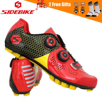 SIDEBIKE Ultralight Carbon Fiber Cycling Shoes Anti-skid Breathable Mountain Bike MTB Bicycle Shoes Cycle Riding Triathlon Shoes - DISCOUNT ITEM  20% OFF All Category