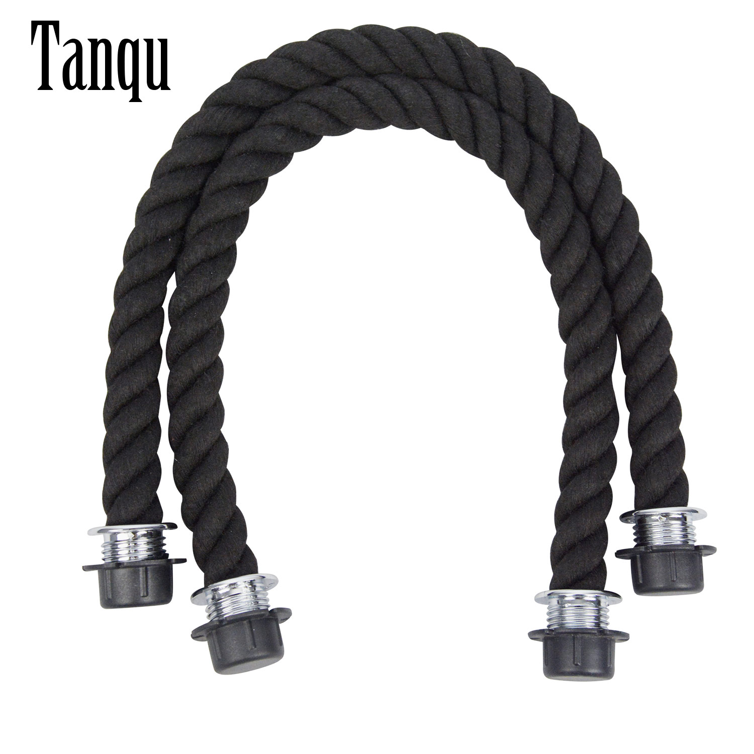 New Tanqu 1 Pair Long Short Black Natural Hemp Rope Handle For O Bag Obag Women Handbag Classic Mini EVA Bag