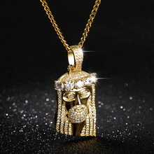 Men Hip Hop Rapper Popular Jewelry Necklace Cleopatra Religious Jesus Portrait Pendant Necklace For Women Stainless Steel Chain