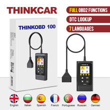 Thinkcar thinkobd 100 todas as funções obd2 dtc lookup vin dados ao vivo luz do motor de reset diagnóstico scanner carro ferramenta de diagnóstico