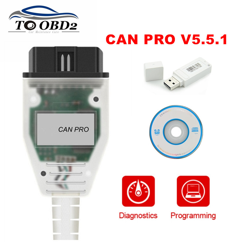 FOR <font><b>VAG</b></font> VCP PRO Diagnostic Tool CAN PRO V5.5.1 Works For AUDI/VW Series Auto <font><b>OBD2</b></font> CAN-BUS K-Line Diagnostic Cable FTDI Chip image