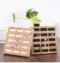 Mordoa Solid wood Ring Jewelry Display Tray Earrings Jewelry Display Stand Jewelry Organizer Joyeros Organizador Porte Bijoux(China)