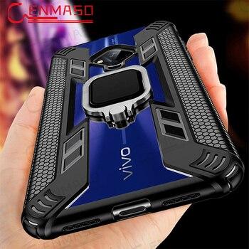 Перейти на Алиэкспресс и купить Чехол для Vivo S5, чехол для Vivo IQOO Neo S1 Y7S Z1 Z5 V17 Neo X30 Pro, магнитное автомобильное кольцо-держатель на палец, полный задний Чехол для Vivo S5