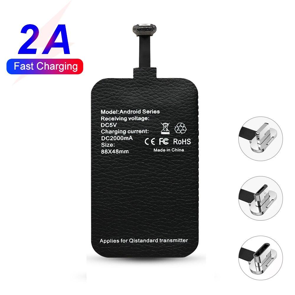 2A Qi Schnelle Drahtlose Ladegerät Empfänger für drahtlose ladegerät Pad Spule für xiaomi Samsung huawei iphone 7 6plus 7plus Typ -C/Typ-EINE