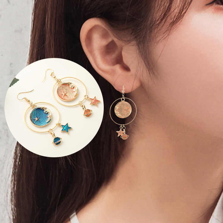 Hot style star earrings fantasy stars moon personality temperament earrings wholesale Christmas gifts