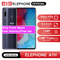 In Stock ELEPHONE A7H Helio P23 4GB 64GB Smartphone 6.4 Octa Core Android 9.0 3900mAh Fast Charging Fingerprint Recognition