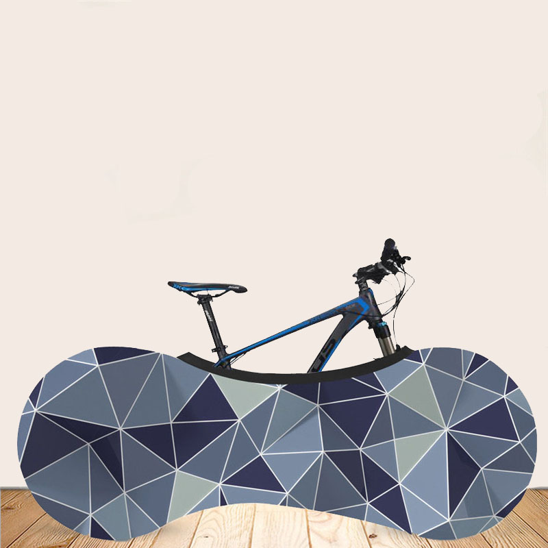 Anti-dust Bicycle Wheel Cover Garage Chains Protective Cover Storage Bag Line Pattern Bike Universal Indoor Bicycle Accessories