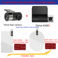 Für original 70mai Dash Cam Pro plus A500S Dash Cam Smart 3M Film und Statische Aufkleber, für 70mai Pro plus Auto DVR 3M film