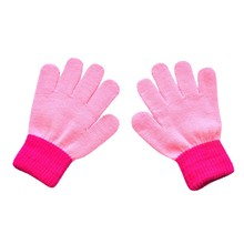 Zimowe rękawiczki dziecięce dziecięce dziecięce rękawiczki zimowe dziecięce rękawiczki Colorblock pełna palcowa ciepła dziergana rękawiczka rekawiczki dziecięce # yl tanie tanio ISHOWTIENDA Poliester Polyester Patchwork Unisex kids gloves 15 cm 6 cm 12 Years kids baby gloves gloves kids baby mittens