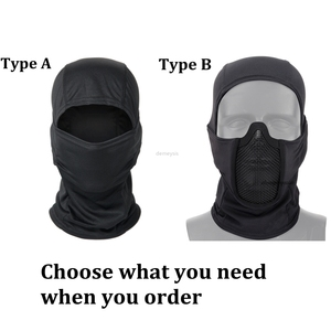 Image 2 - Tactical Full Face Mask Balaclava Cap Motorcycle Army Airsoft Paintball Headgear Metal Mesh Hunting Protective Mask