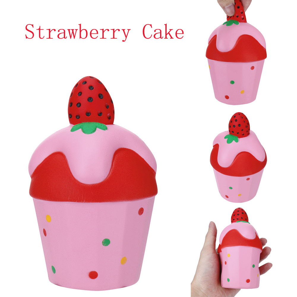 1PC Strawberry Ice Cream Scented Toys Antistress Funny Kids Toy Charm Slow Rising Squeeze Stress Reliever Collection Toys L0115