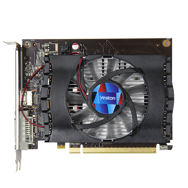 Yeston Gaming Pc Graphics Card Original Gt 1030 2Gb Gddr5 Graphics Cards Nvidia Pci Express 3.0 Video Graphics Card