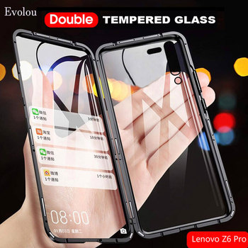 Перейти на Алиэкспресс и купить Двухсторонний стеклянный Магнитный адсорбционный чехол для Lenovo Z6 Pro 360 полная защита металлический бампер чехол для телефона Lenovo Z6 Pro
