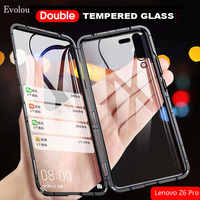 Double Sided Glass Magnetic Adsorption Case for Lenovo Z6 Pro 360 Full Protection Metal Bumper phone cover for Lenovo Z6 Pro