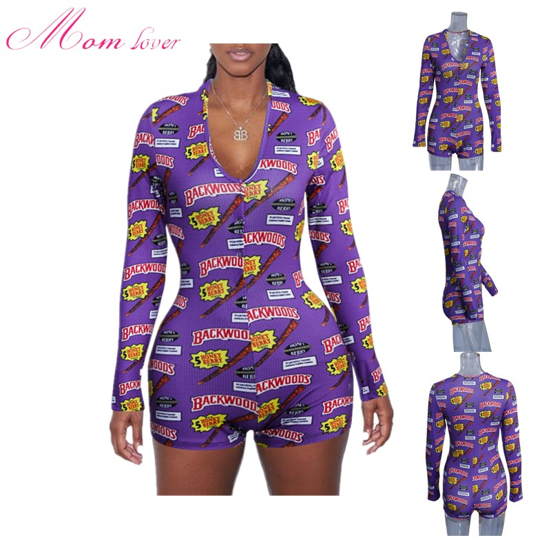 2019 Long Sleeve  Abdl Onesie Adult Pajamas Onesie Pyjamas Women Backwoods