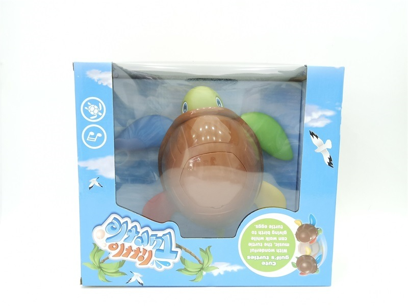Stall Hot Selling Electric Universal Turtles With Music Children'S Educational Early Childhood Lay Eggs Turtle Cartoon Toy Anima