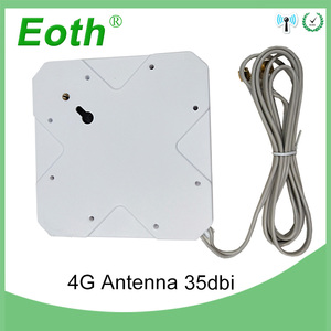 Image 5 - 3G 4G Antenna 35dBi 2m Cable LTE Antena 2 SMA connector for 4G Modem Router Adapter Female to TS9 Male connector Signal zoom