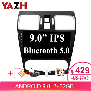 YAZH 2 Din Android touch screen Auto Radio Built in GPS Glonass Navigation for Subaru XV 2015 2016 car stereo multimedia AUX BT