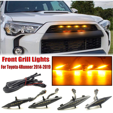 $ 22.11 4PCS Bright Amber Front Grill Lights LED Lamps Kit For Toyota 4Runner 2014-2019 SR5 TRD Off-road Limited TRO Pro
