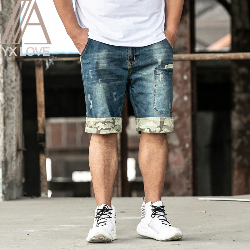 2020 New Jeans Mens Casual Shorts Pants  Plus 28-48 Size Cool Juventus Comfortable Summer Hot Sale Cotton Brand Clothing