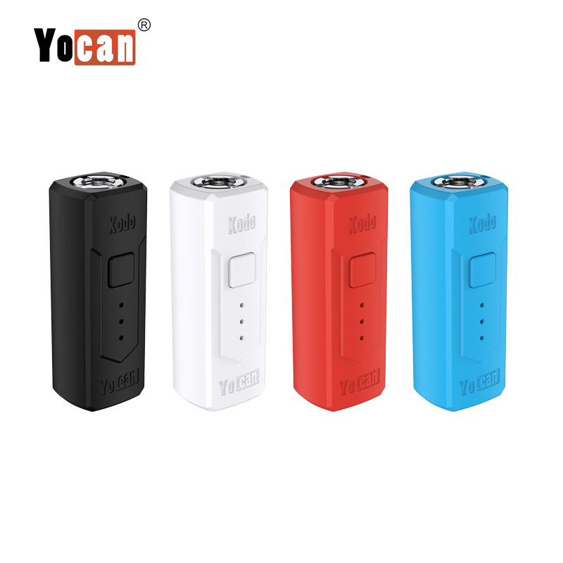Original Yocan Kodo Electronic Cigarette Vape Box Mods Battery 400mAh Preheating For 510 Thread Atomizer Vaporizer Vaper Mods