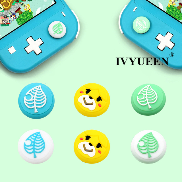 IVYUEEN for NintendoSwitch NS Lite Animal Crossing Analog Thumb Stick Grips for Nintend Swith Joy Con JoyCon Joystick Cap Cover