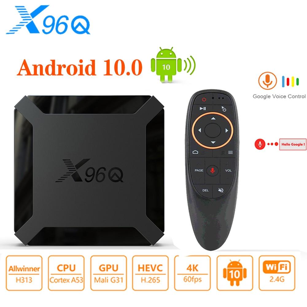 X96Q Smart Android 10.0 TV Box Allwinner H313 Quad Core 2GB 16GB 2.4GHz WiFi 4K Media Player Google Youtube Gaming Set Top Box