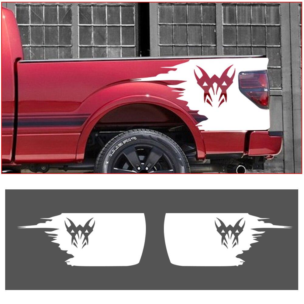 Автомобильная наклейка, прикроватная емкость для грузовика, Набор наклеек в полоску, обёрточная отделка для Chevrolet Colorado Silverado, автостайлинг