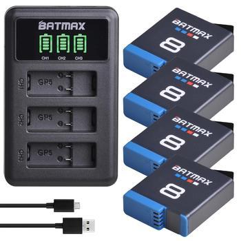 for GoPro Hero 8 hero 7 hero8 Black Battery GoPro 5 Hero 6 Battery Akkus + LED USB Charger for Go Pro Hero 8