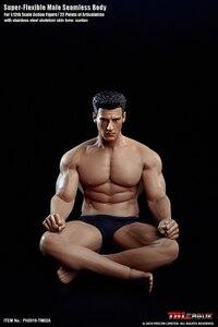Image 4 - TBLeague 1/12 Super Flexible Male Seamless Body Action Figure with Head Sculpt TM01A /TM02A Fitness Suntan Skin Soldier Figures