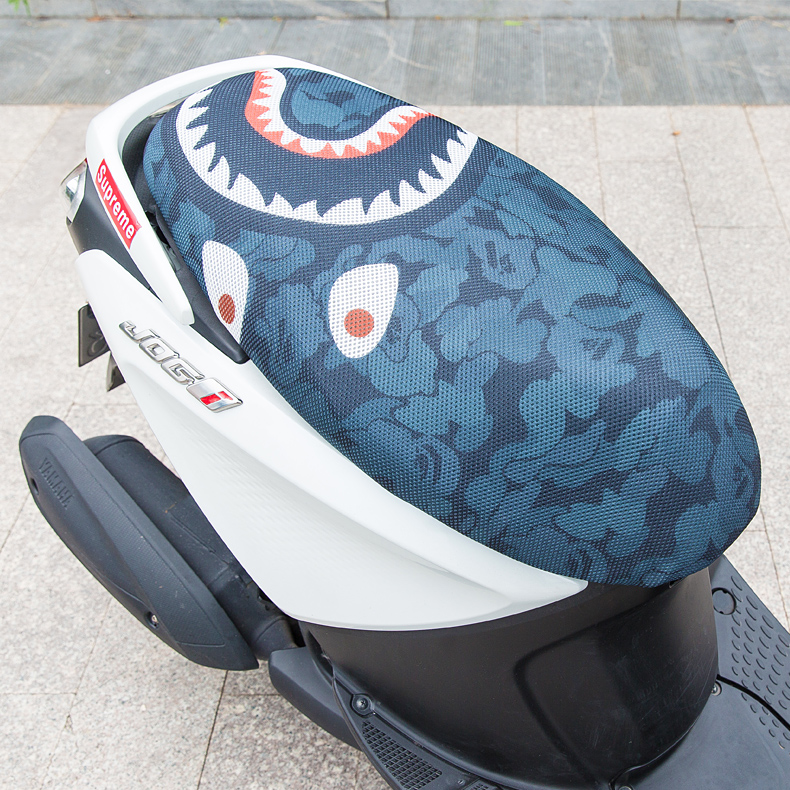 FREE SHIPPING New Breathable Summer Cool 3D Mesh Motorcycle Moped Motorbike Scooter Seat Covers Cushion Anti-Slip Waterproof