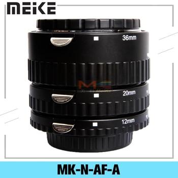Meike MK-N-AF-A Metal Auto Focus AF Macro Extension Tube Set 12 20 36mm Adapter Ring For Nikon Digital SLR Camera Lens huanor hn 668c auto macro extension tube set for canon dslr black
