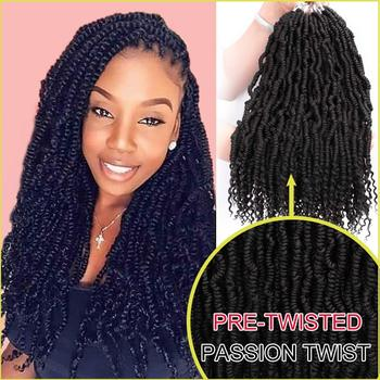 Bomb Fluffy Twist Crochet Hair Spring Braiding Passion Pre looped Synthetic Extension