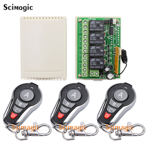 Image 2 - 433Mhz Universal Wireless Remote Control Switch DC 12V 4 CH RF Relay Receiver Module + RF Remote 433 Mhz Transmitter Diy