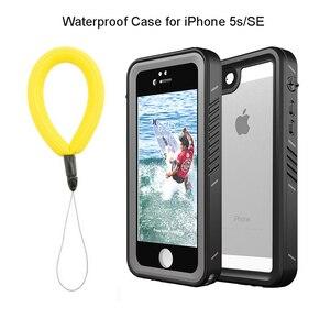 Image 1 - אמיתי עמיד למים מקרה עבור iPhone 11 פרו X XS מקס 5S 6 6S 7 8 בתוספת SE 2020 עמיד הלם חיצוני צלילה מגן מים הוכחת כיסוי