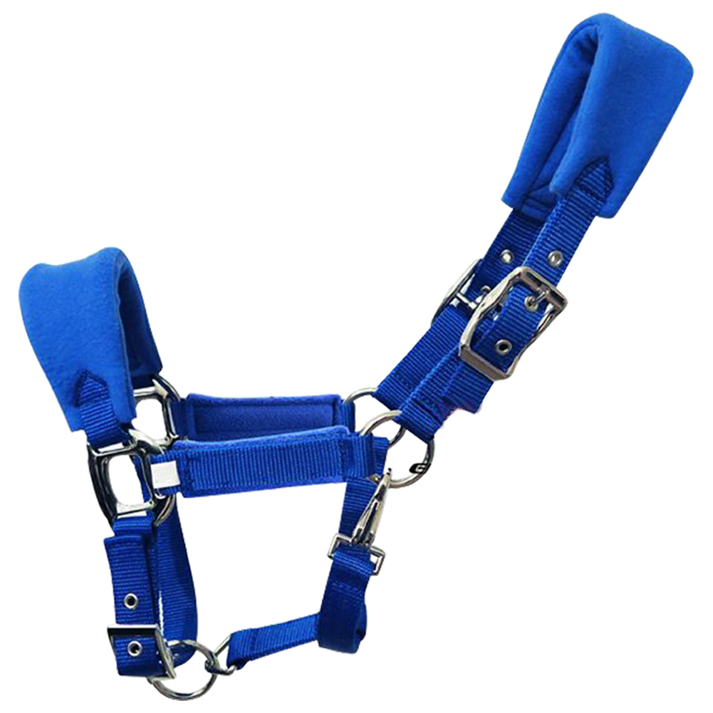 Thicken Detachable Horse Halter Adjustable Strap Fleece Padded Multiple Sizes Double Layered Outdoor Sports Protective Practical