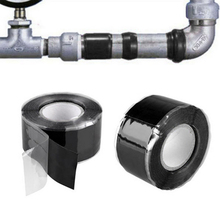 1Pcsเครื่องมือที่มีประโยชน์Waterproof Silicone Performanceซ่อมเทปกู้ภัยSelf Fusing Hoseสีดำสวนน้ำท่อเชื่อมต่อ