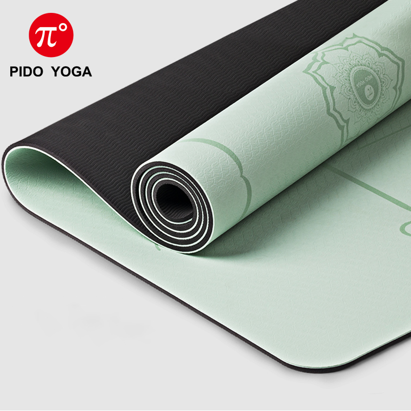 PIDO YOGA Double Color Yoga Mat with Position Line Thick Yoga Pilates Mats Gymnastics Fitness Mat 3