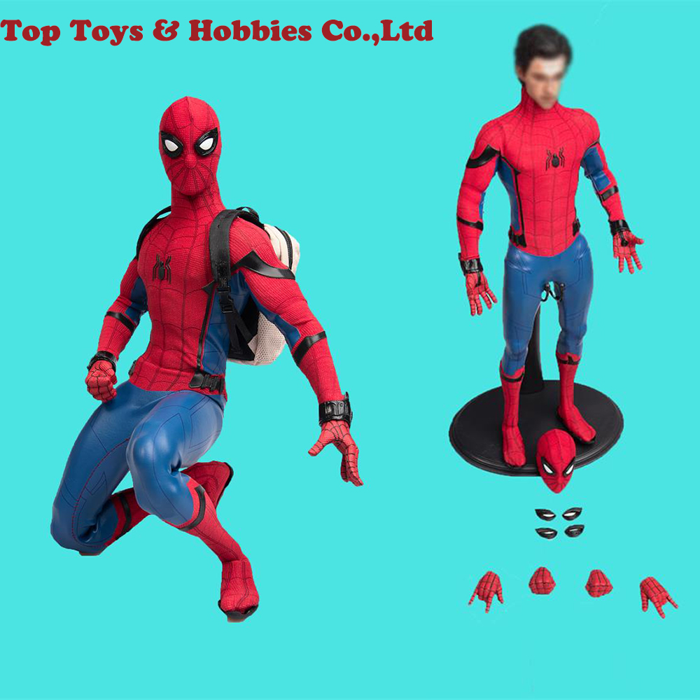 Collectible full set figure 1/6 Scale TYM061 Tom Holland The Spider Man Head Body & Suit 12'' Action Figure Doll