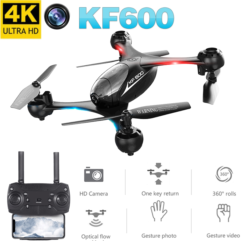 KF600 RC Drone 1080P/4K Wifi FPV Dual Camera HD Optical Flow Positioning Gesture Control Altitude Hold Quadcopter Helicopter