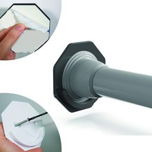 Shower Curtain Rod Mounting Bracket Punch-free Adhesive Rod Mounting Fixture Shower Curtain Rod Non-slip Hook